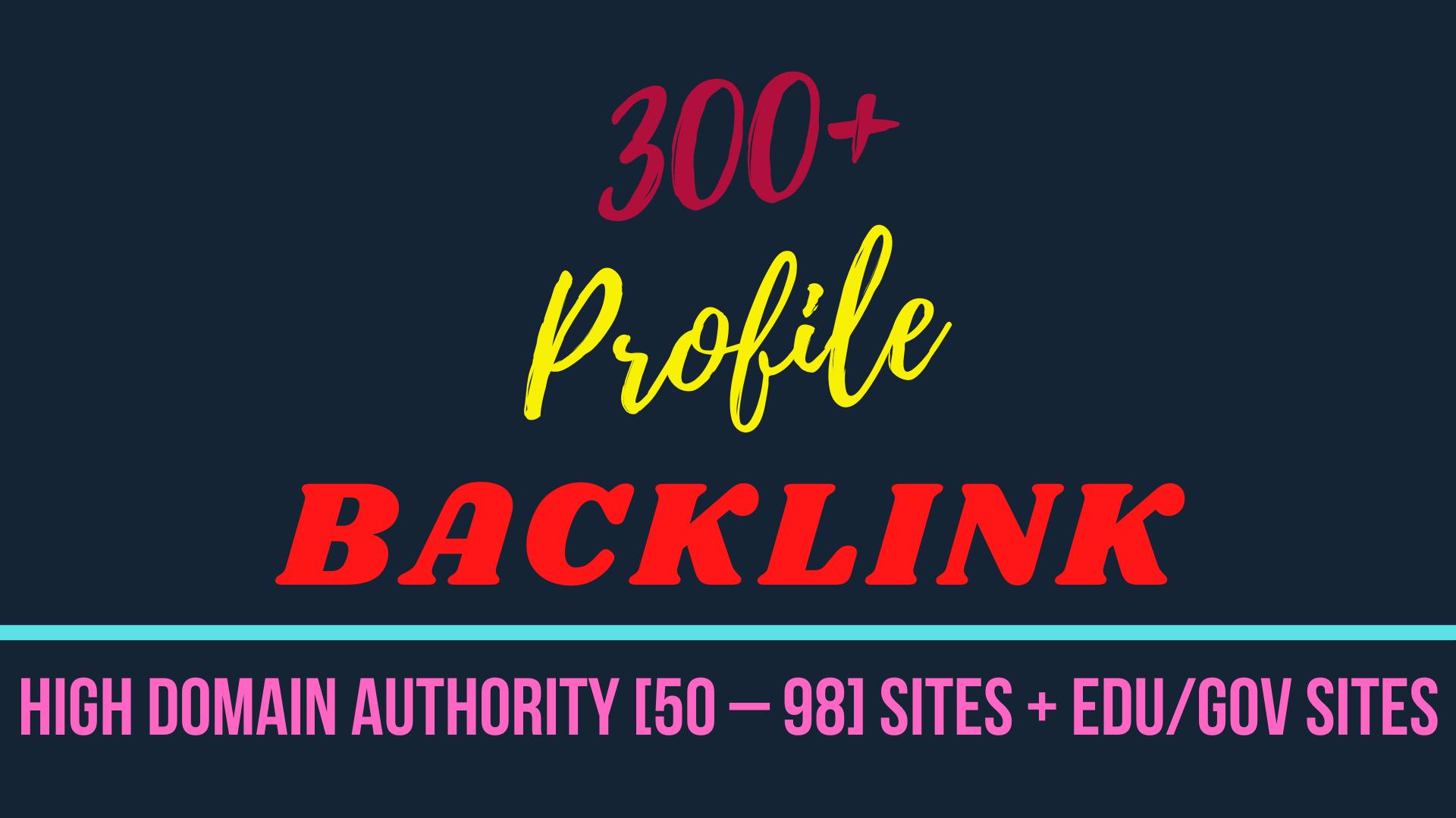 I will provide 300+ Profile Backlink