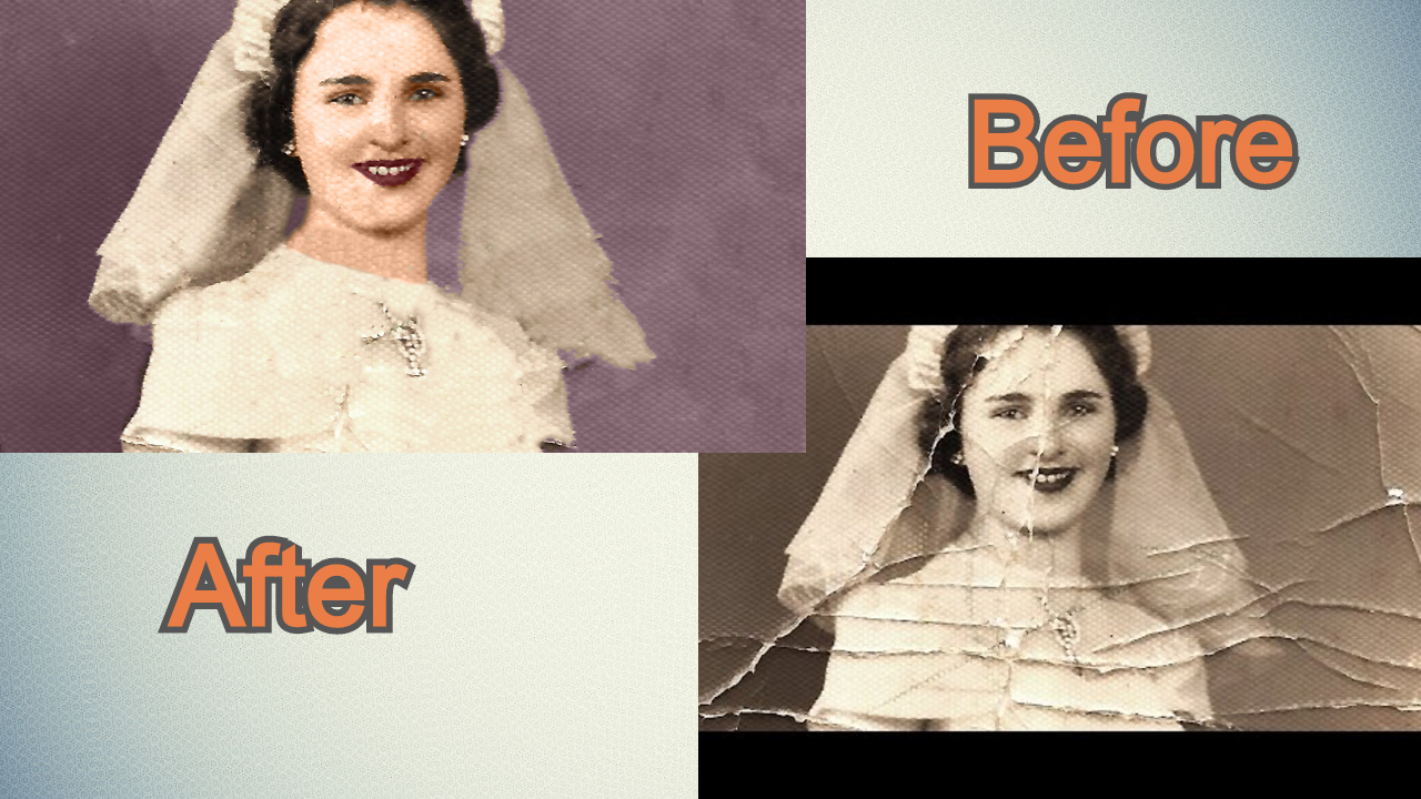 Restore your old damaged photo to a brand new condition with unlimited revisions.