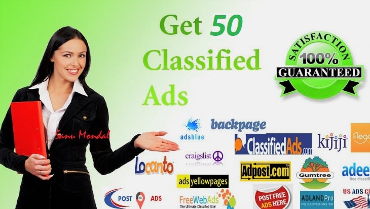 I will manually 100 post your ads on classified ad posting sites