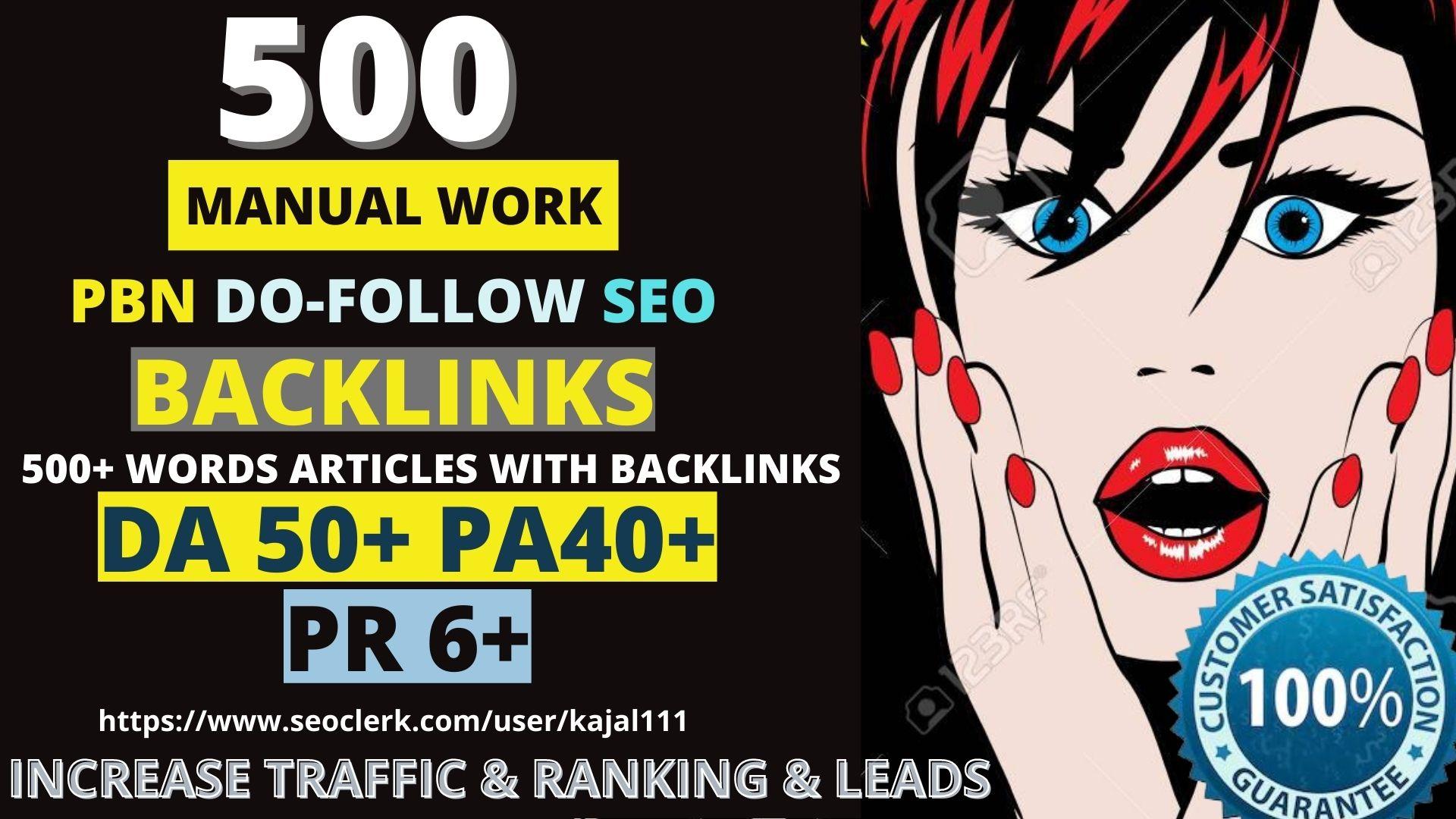 Get permanent PBN 500 Unique Sites DA 50+ PA 40+ PR 6+ Web 2.0 homepage unique site