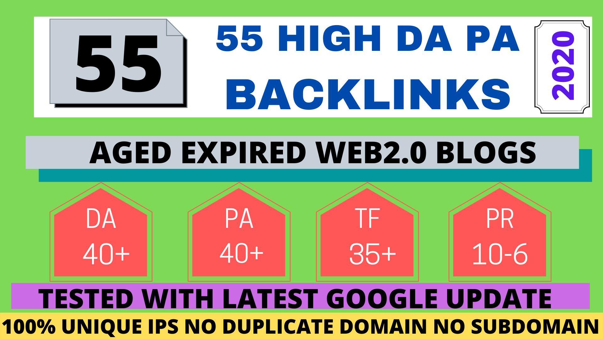 i will create premium high quality 50 dofollow SEO backlinks