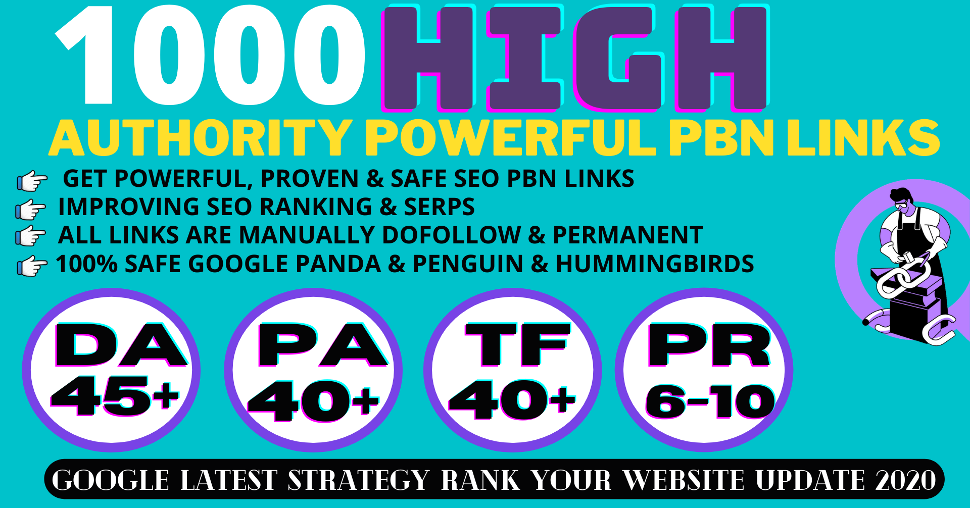 build 1000+ Permanent PBN Backlinks Web2.0 With High DA45+PA40+PR6+ Links Homepage Unique website