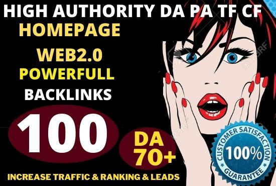 100+ Permanent PBN Backlinks Web2.0 With High TF CF DA 70 PA Do-follow Links Homepage Unique website