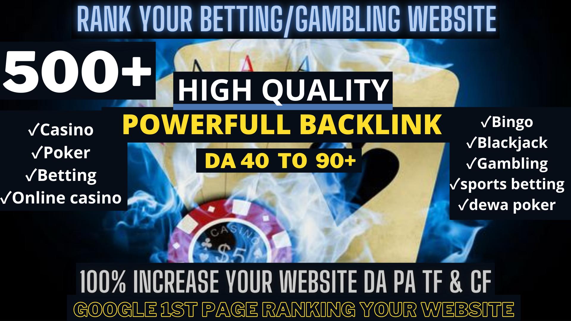 500+Parmanent CASINO/POKER/Gambling/Sports Betting/judi bola related web2.0 unique site