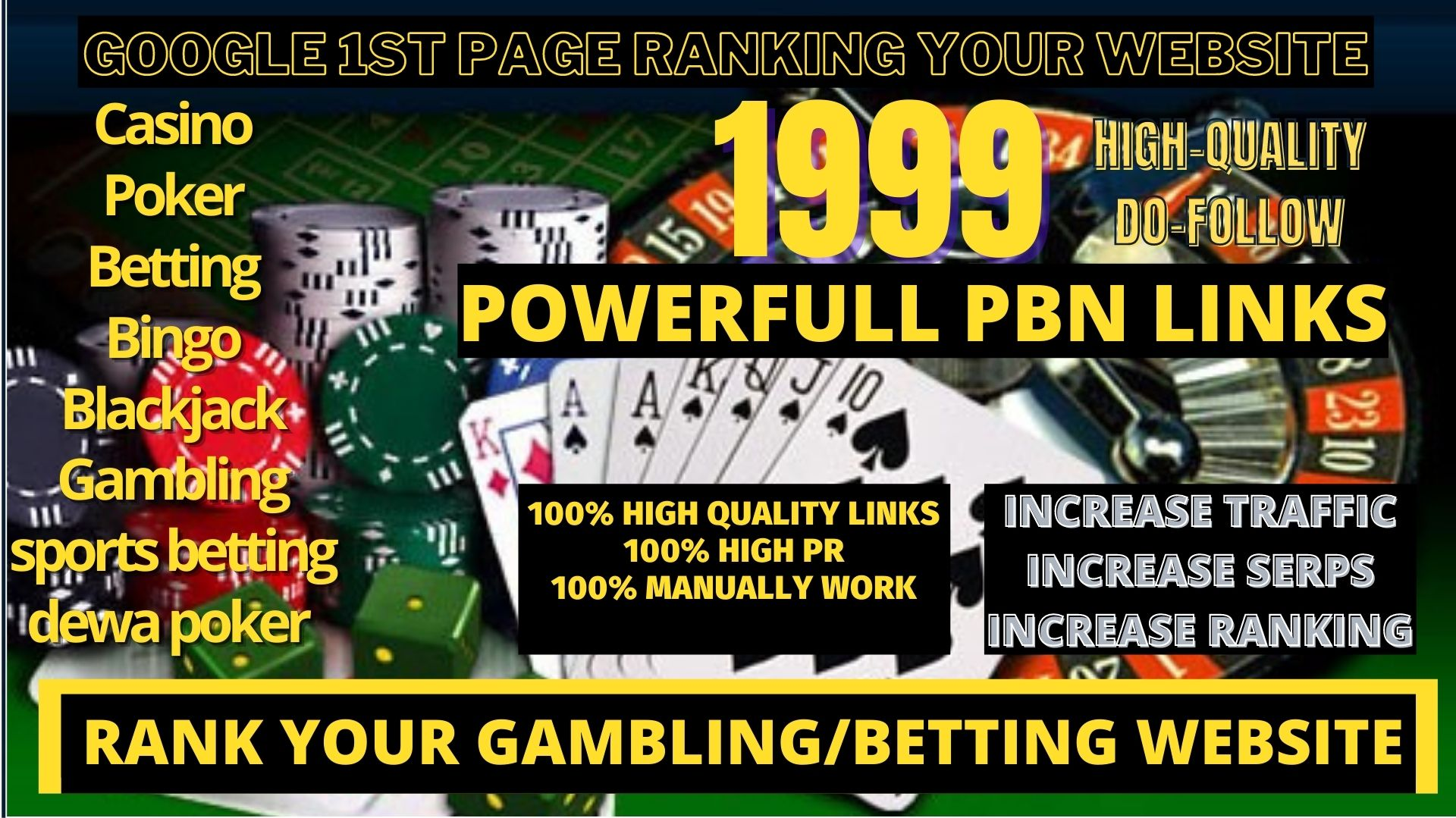 1999+Parmanent CASINO/POKER/Gambling/Sports Betting/judi bola related unique site