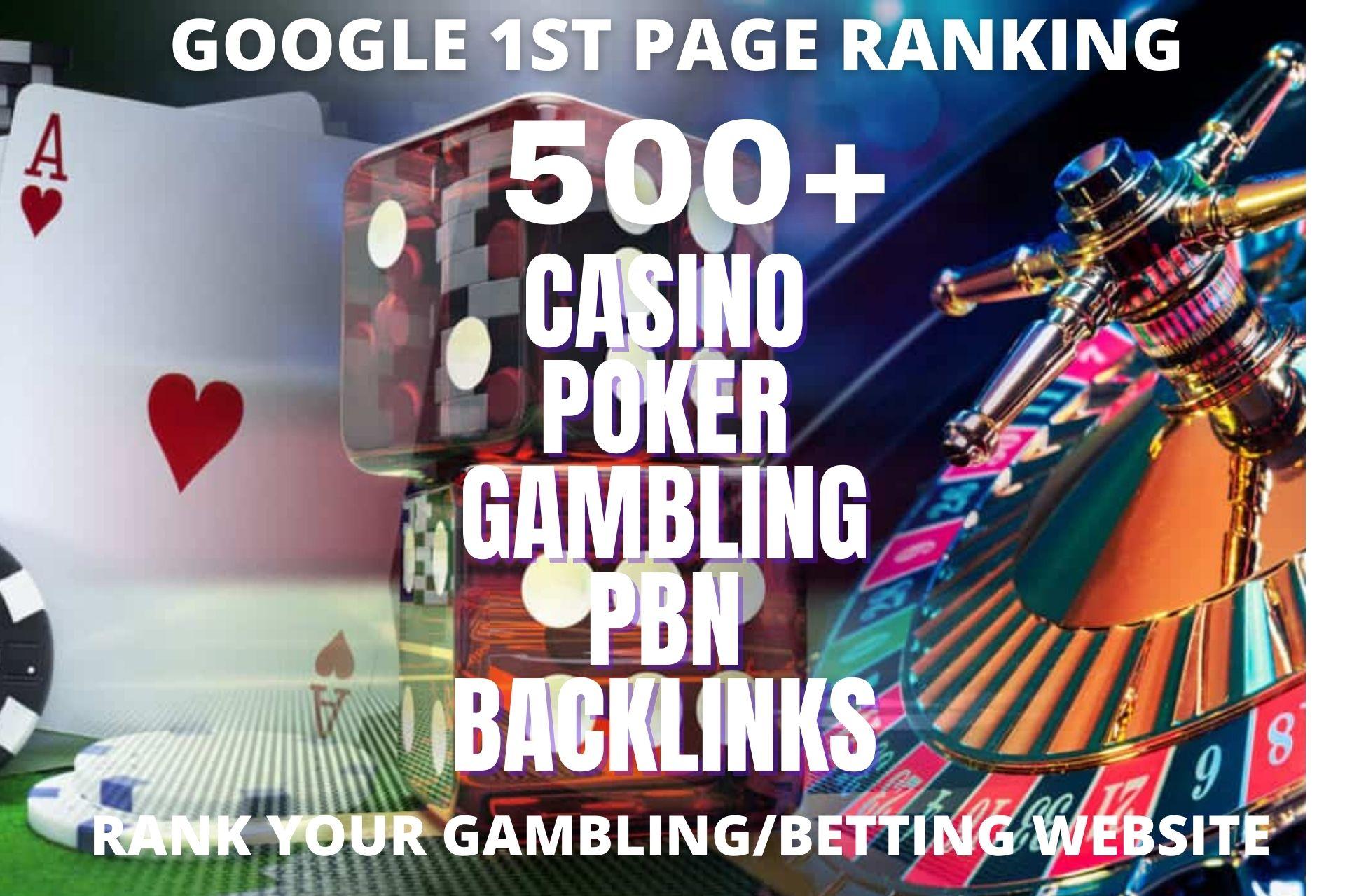 Permanent 500 powerful Casino,  Gambling,  Poker,  Sports High Quality Web2.0 unique Backlinks
