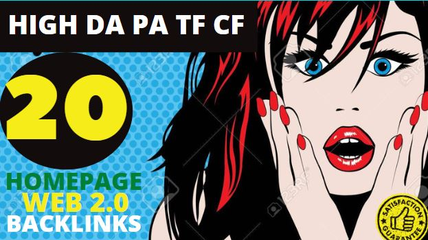 20+ Permanent PBN Backlinks Web2.0 With High TF CF DA PA Do-follow Links Homepage Unique website