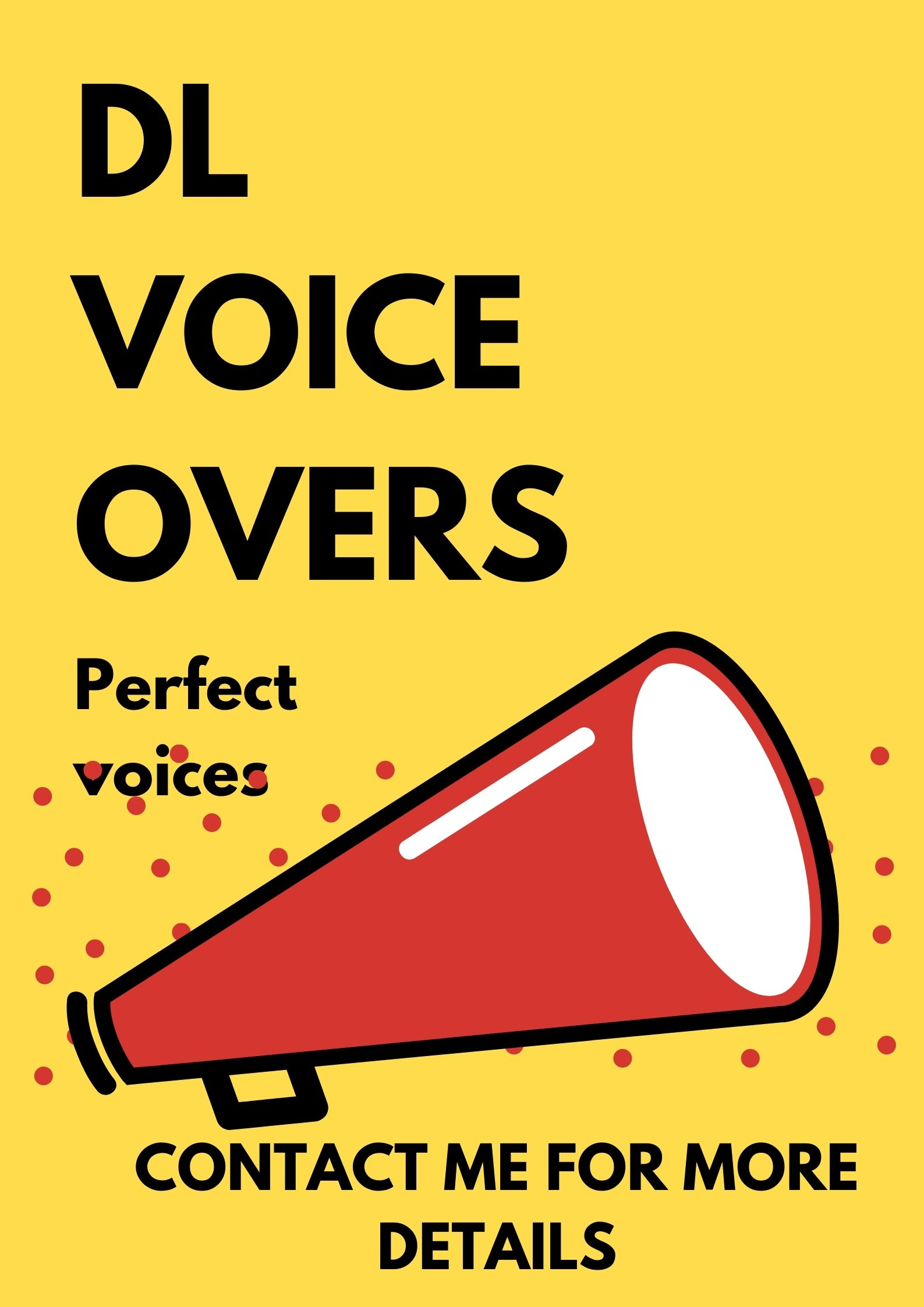 I will record male, female, kid voice overs