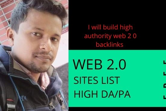 I will build high authority 30 web 2.0 backlinks to increase your website ranking.