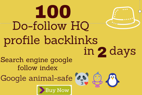 100 HQ dofollow profile Backlinks that will be boost-up your ranking