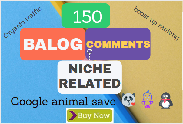 150 HQ dofollow niche related blog comments