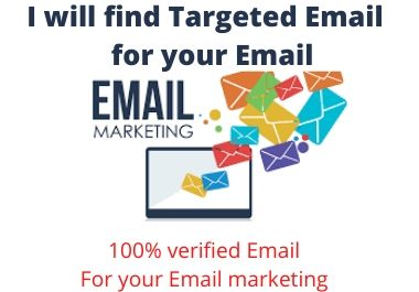 I will provide you 1000 targeted email list for Email Marketing