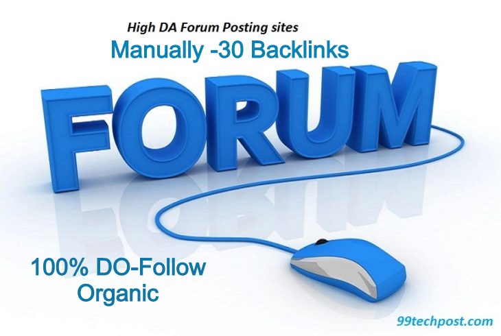 manually create high authority 30 forum posting backlinks