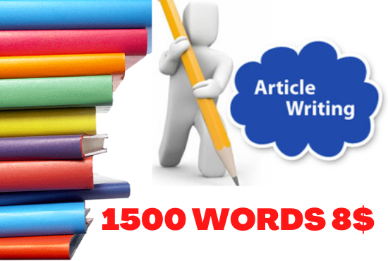 Get High-Quality 1500 Words SEO Optimized Unique Blog Writing , Article Writing and Web Writing