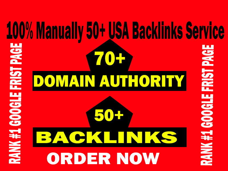 Short Time- 50+ USA Backlinks from High DA-70+ Domains-Skyrocket your Google RANKINGS NOW