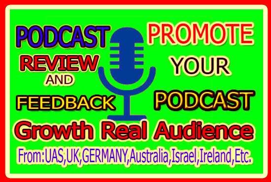 I will promote your podcast through social media
