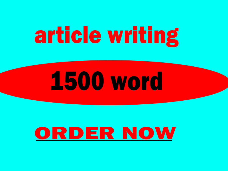 write a 1500 word article on any topic and blog post