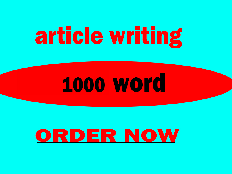 write a 1000 words article on any topic
