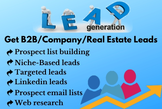 I will collect target based business email,  bulk email or B2B leads