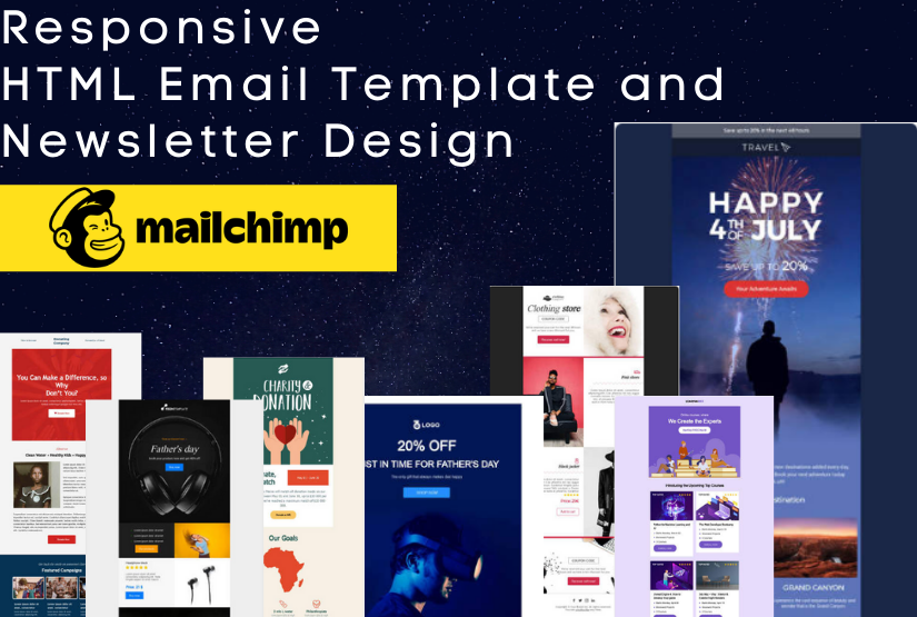 I will design responsive HTML email and newsletter template
