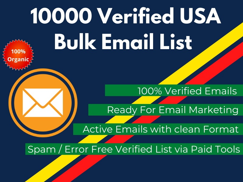 Provide 10000 Active Manually verified Email List for blast your solo or email ads to target sales