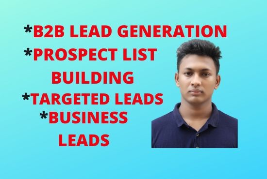 I will do 100 b2b lead generation and GEO targeted lead generation
