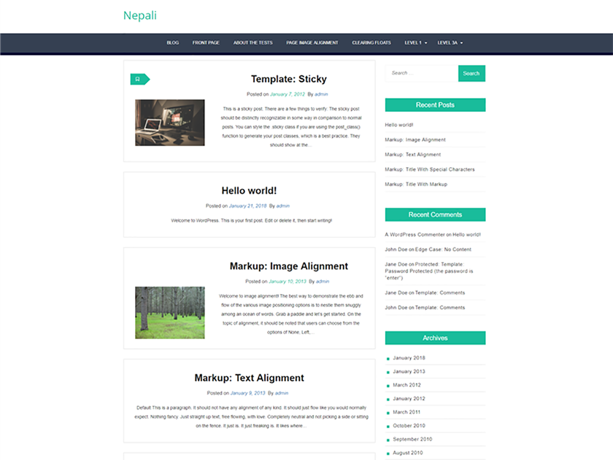 Wordpress theme for your business