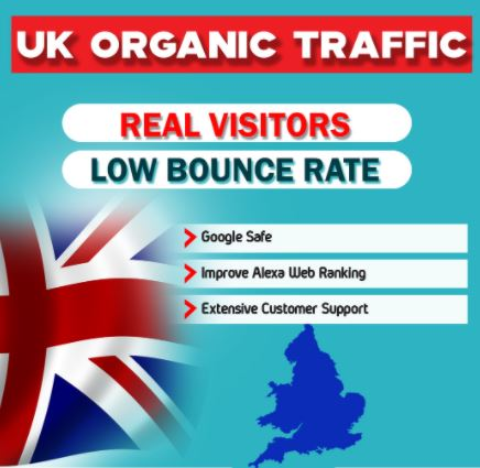I will drive real organic UK traffic to your website