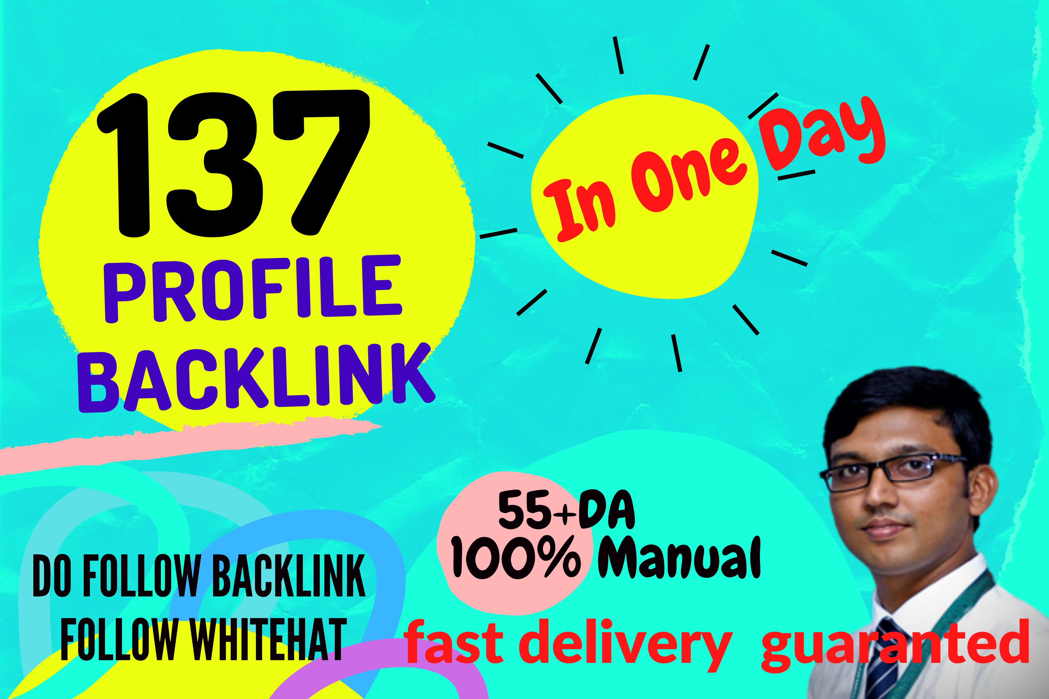 I Will Do 137 Manual Profile Back links with HQ DA