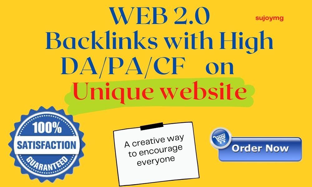 1000 Web 2.0 PBN Backlink with High DA/PA/ TF/CF/Google Rank homepage