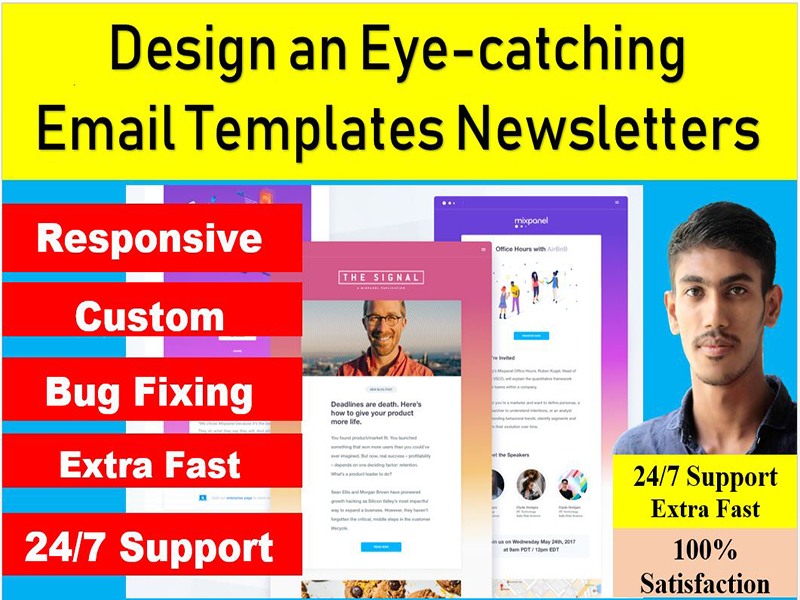 Design a Eye catching Email Templates Newsletters