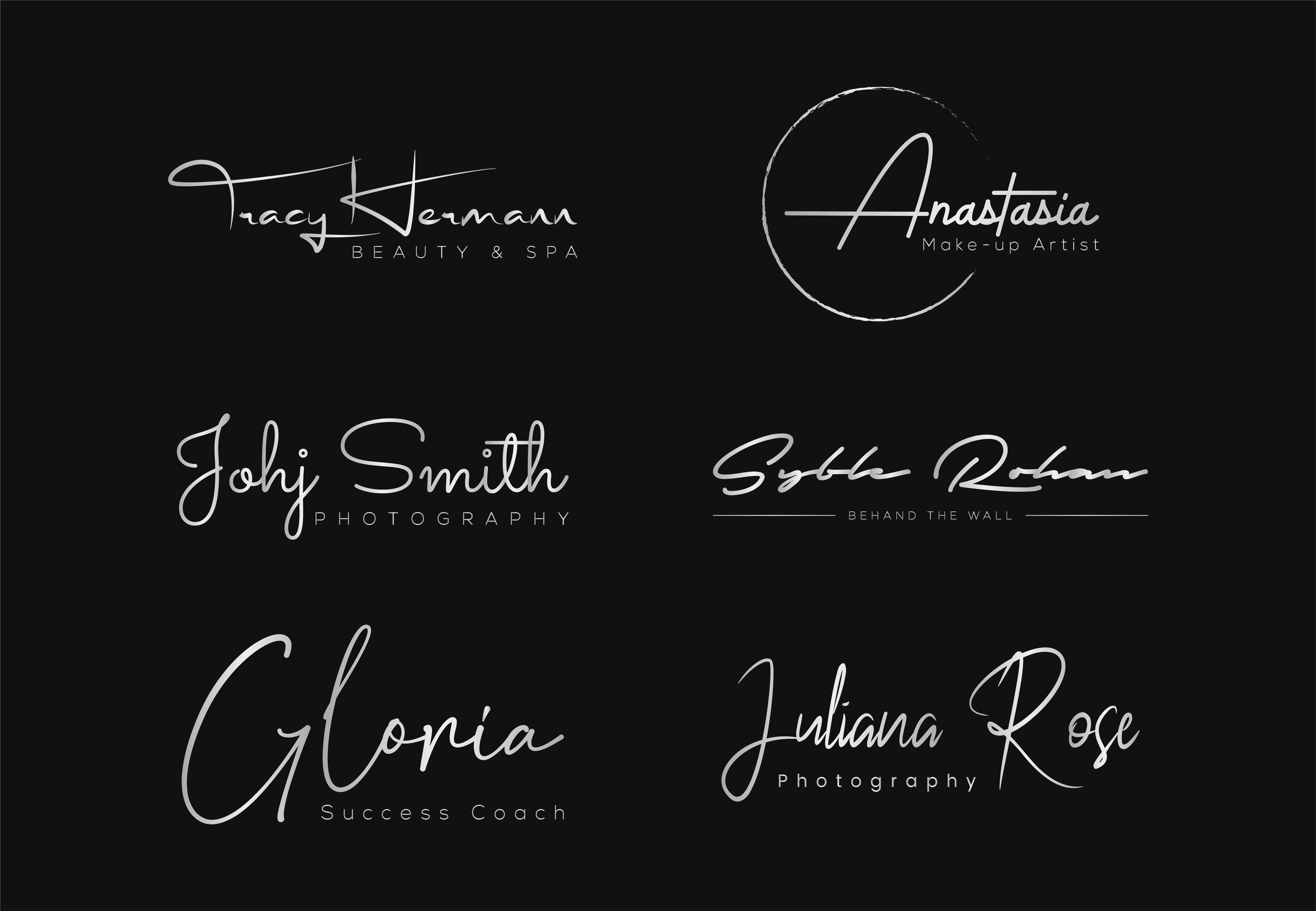 I will design a luxury hand lettering signature logo