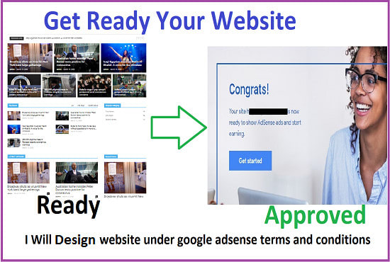 I will design an adsense approval niche blog website