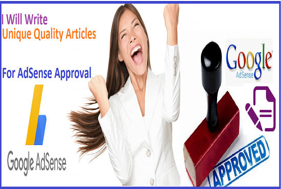 I will write 15 unique articles for google adsense approval