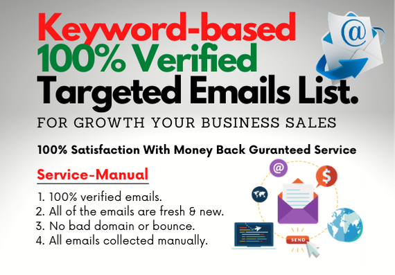 I will provide targeted verified or fresh email list - 500