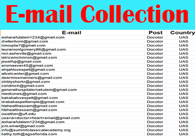 I will do collect targeted verified email list