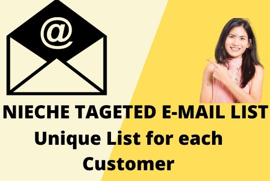 I will collect nieche targeted email address list
