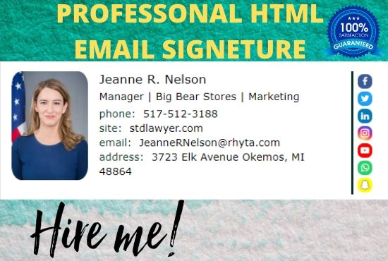 I will Create professional html email signature
