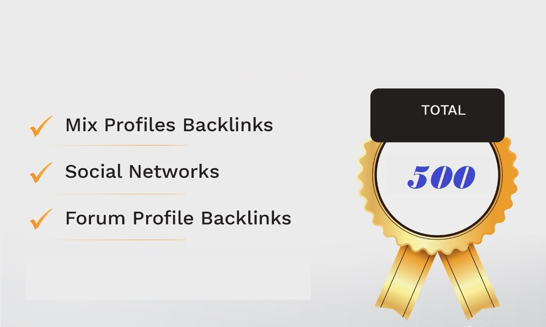 500 social, forum,  blog,  wiki and Article mix backlinks