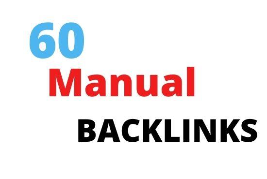I will create manual white hat seo backlinks