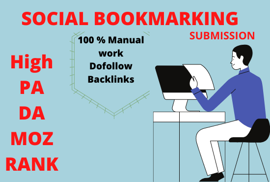 I will do Bookmarking submission manual work
