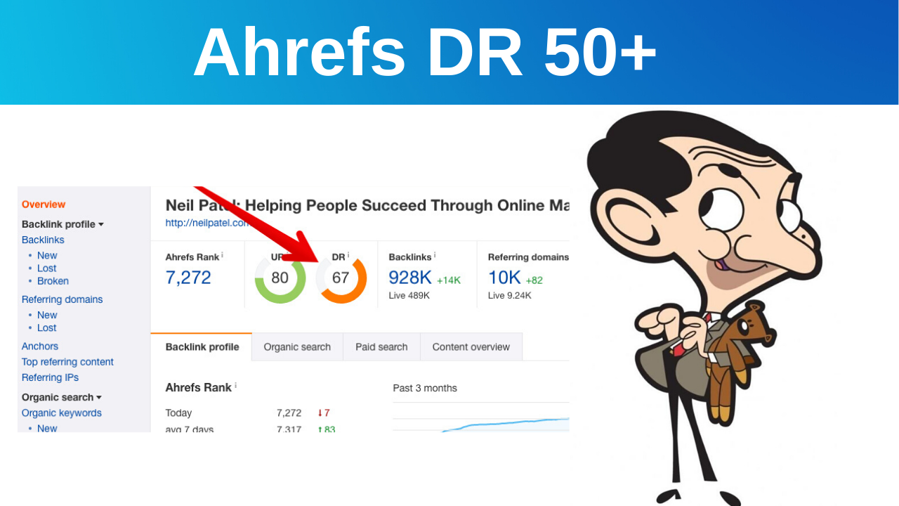 I will increase your domain rating DR 45+ for website ranking