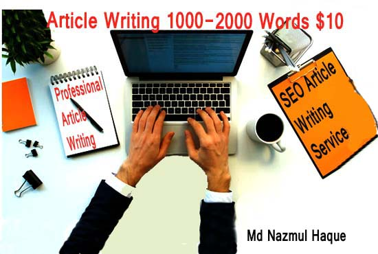 Write High Quality 2000 Word Articles In Any Topic for 8