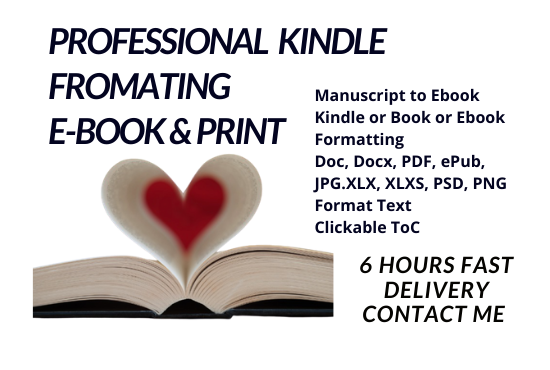 I can do kindle ebook book formatting createspace paperback formatting