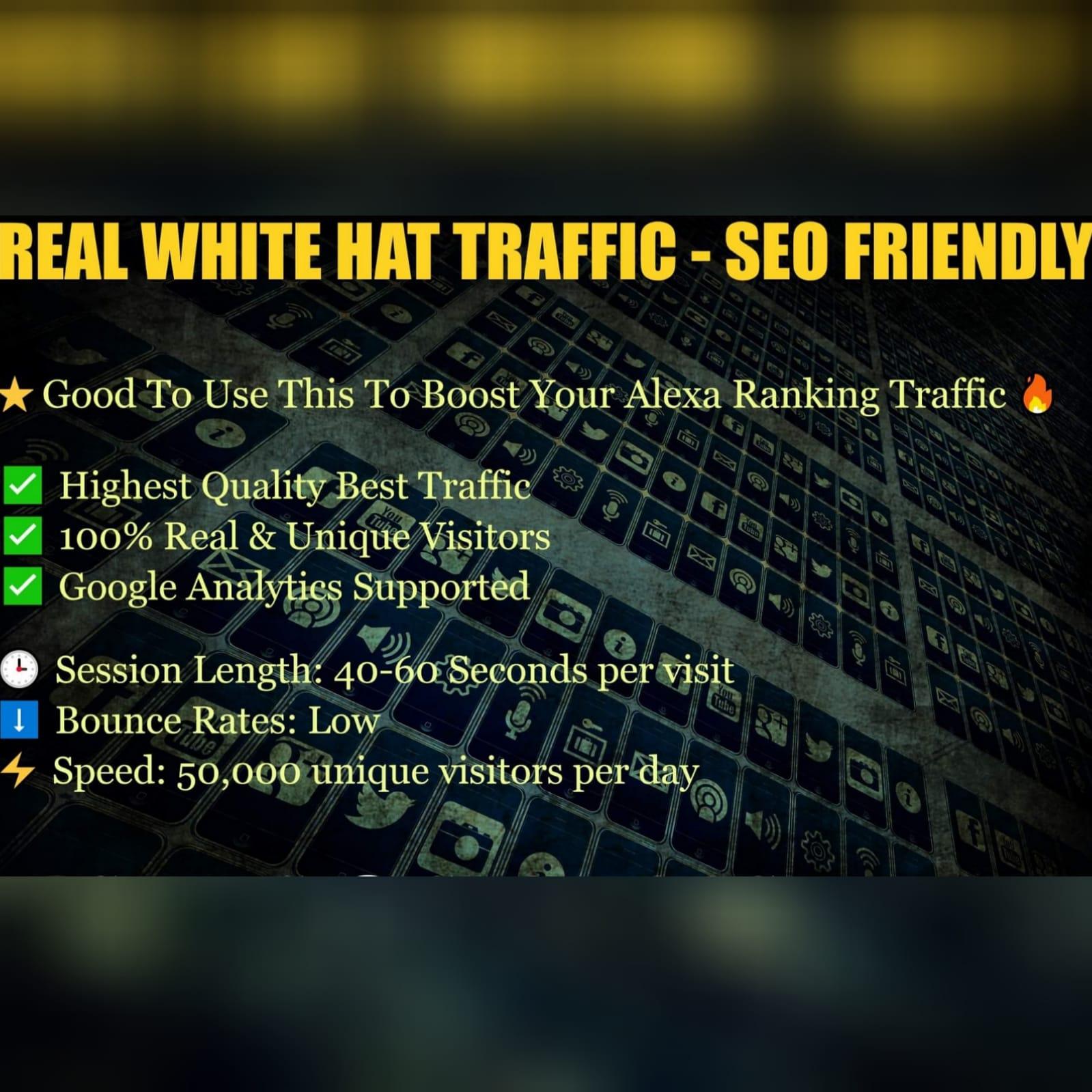 Real White Traffic - Google / Alexa / Platforms - SEO FRIENDLY 1k per order