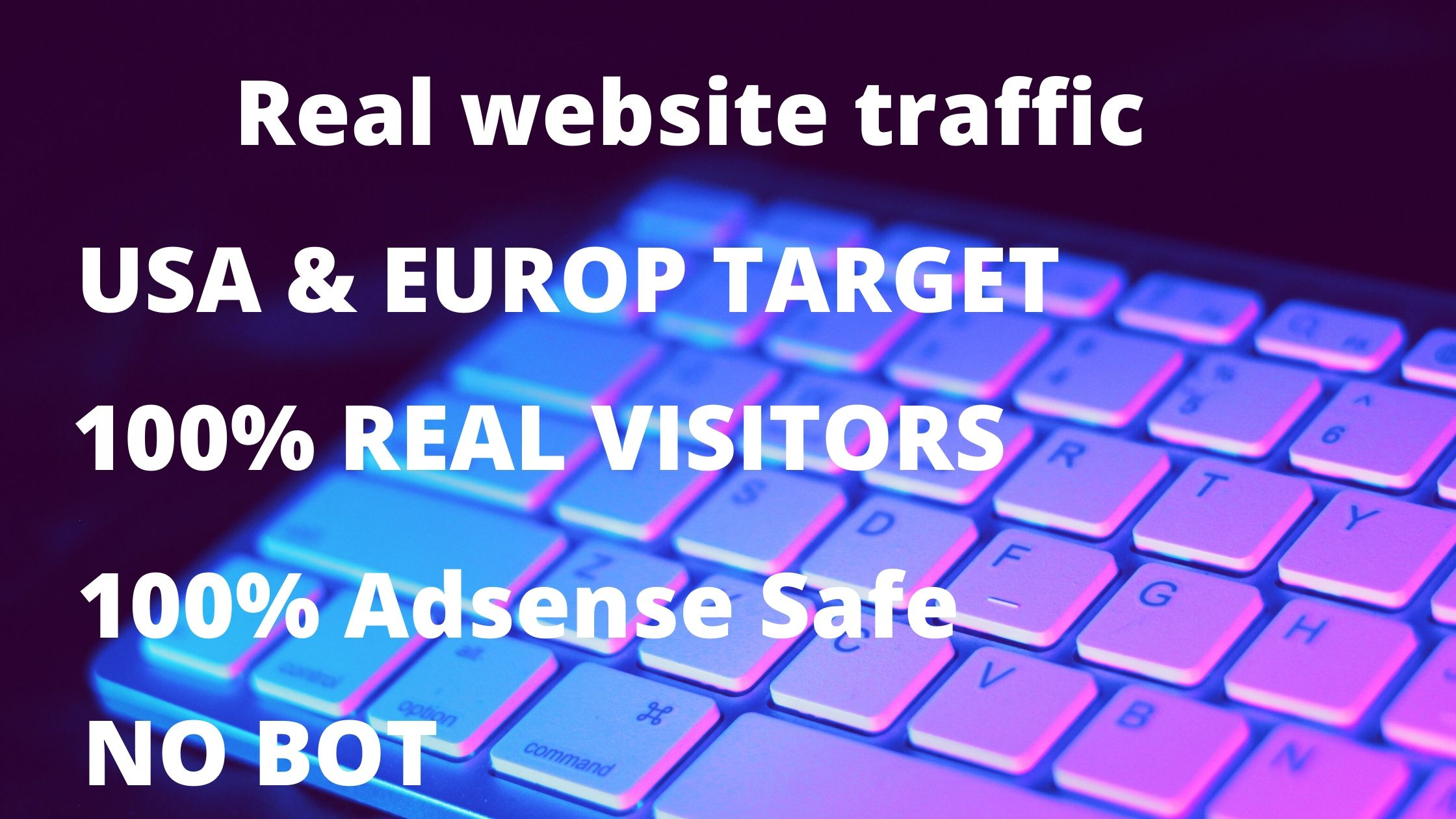 Drive 25000+ Real website traffic