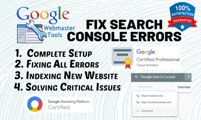 Fix google search console,  webmaster,  analytics,  sitemap XML
