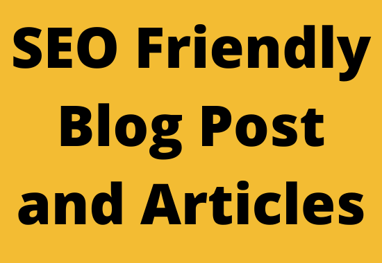 Write 500 word SEO optimized article or blog post
