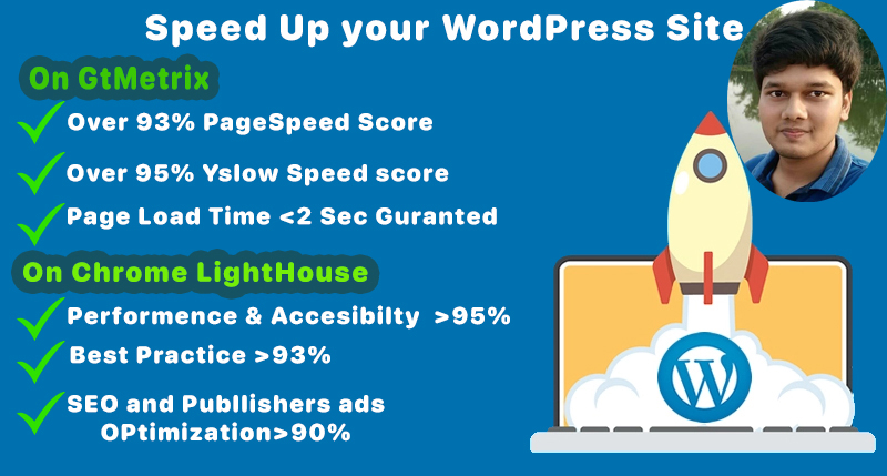 Boost your WordPress Speed over 2X by LightHouse and Gtmetrix