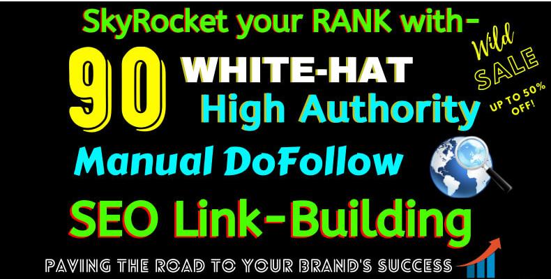 I will build 90 high authority USA dofollow seo backlinks service,  link building